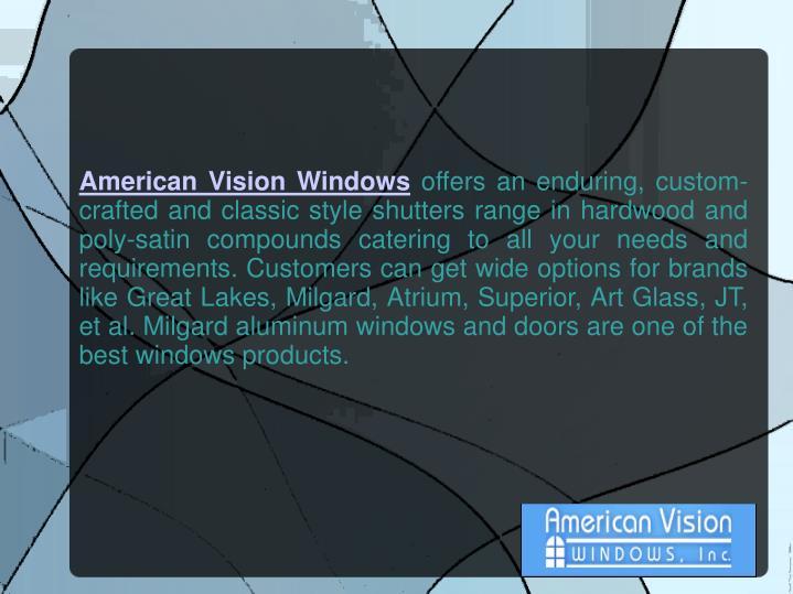 American Vision Windows