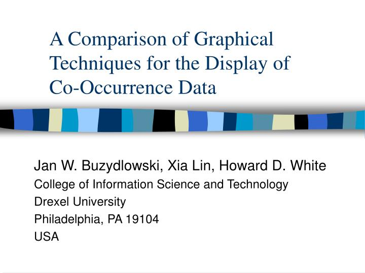 a comparison of graphical techniques for the display of co occurrence data n.