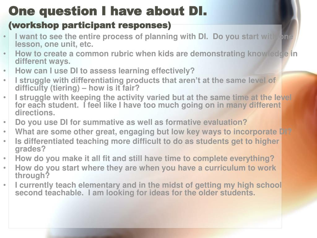 One question I have about DI.