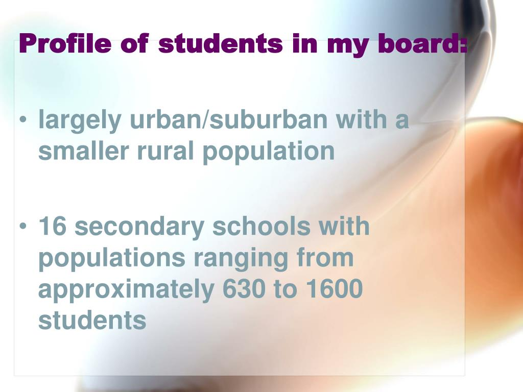 Profile of students in my board: