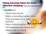 using learning styles for more effective studying karen hume start where they are25