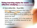 using learning styles for more effective studying karen hume start where they are26