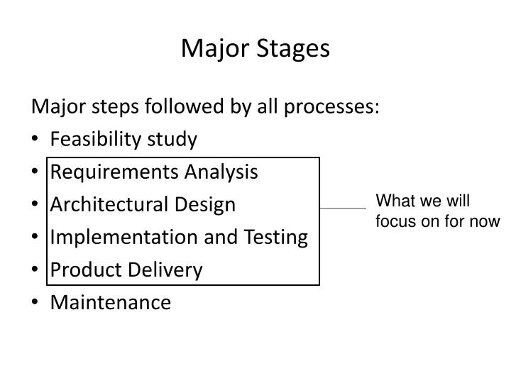 Major stages