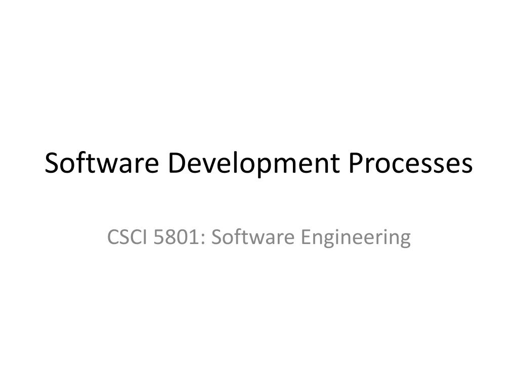 software development processes l.