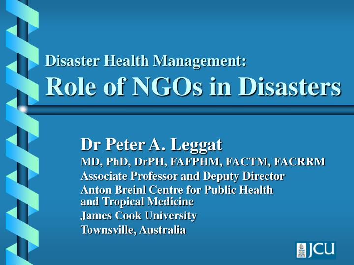 disaster health management role of ngos in disasters n.