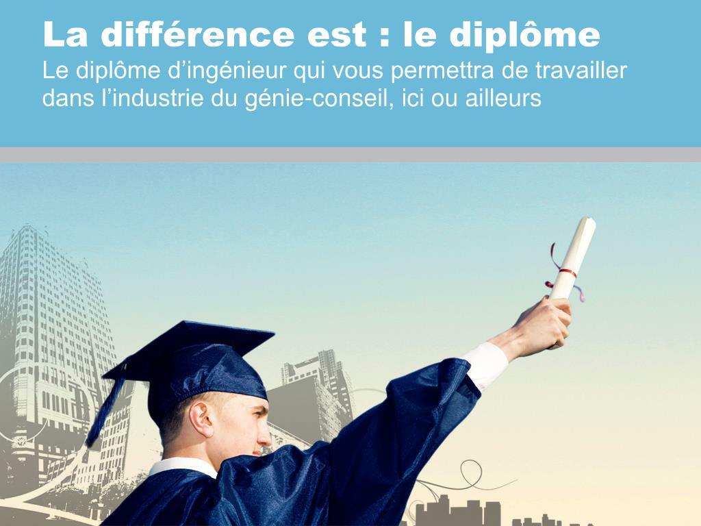 La différence est : le diplôme