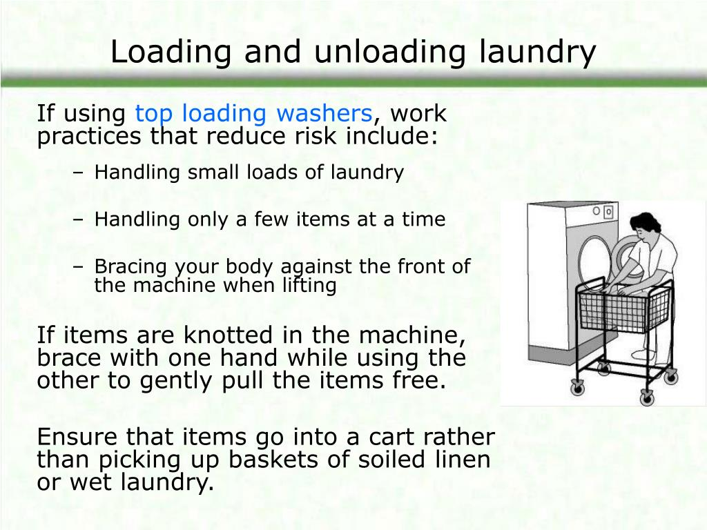 Loading and unloading laundry