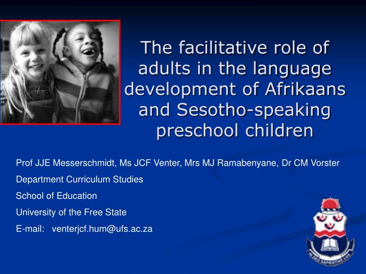 ppt the facilitative role of adults in the language