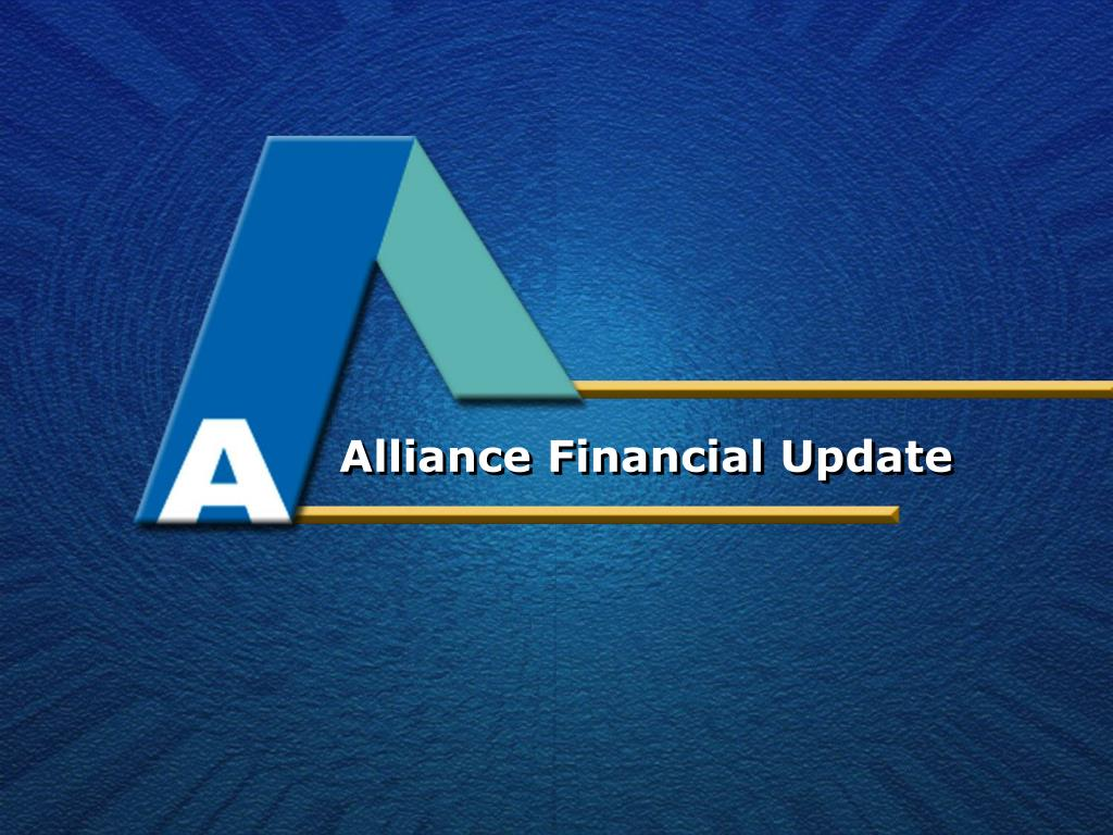 Alliance Financial Update