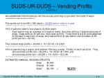 suds ur duds vending profits question 2