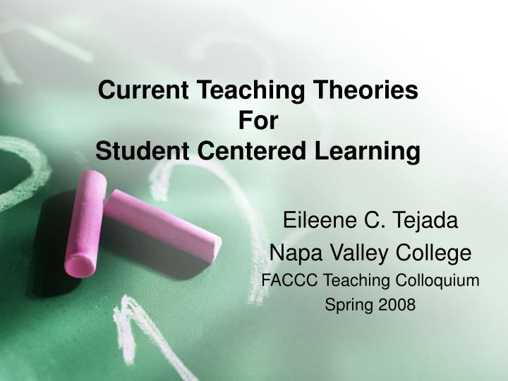 current teaching theories for student centered learning n.