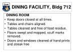 dining facility bldg 712