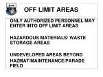 off limit areas