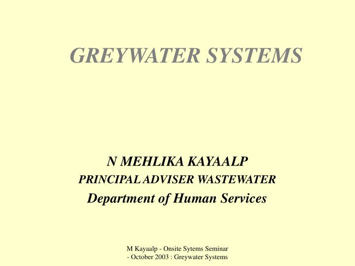 greywater systems n.