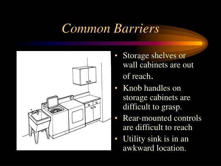 Common barriers