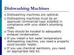 dishwashing machines