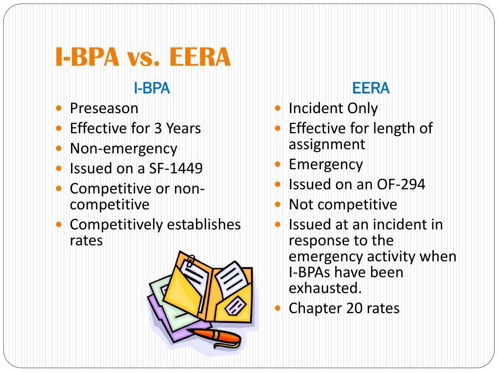 I-BPA vs. EERA
