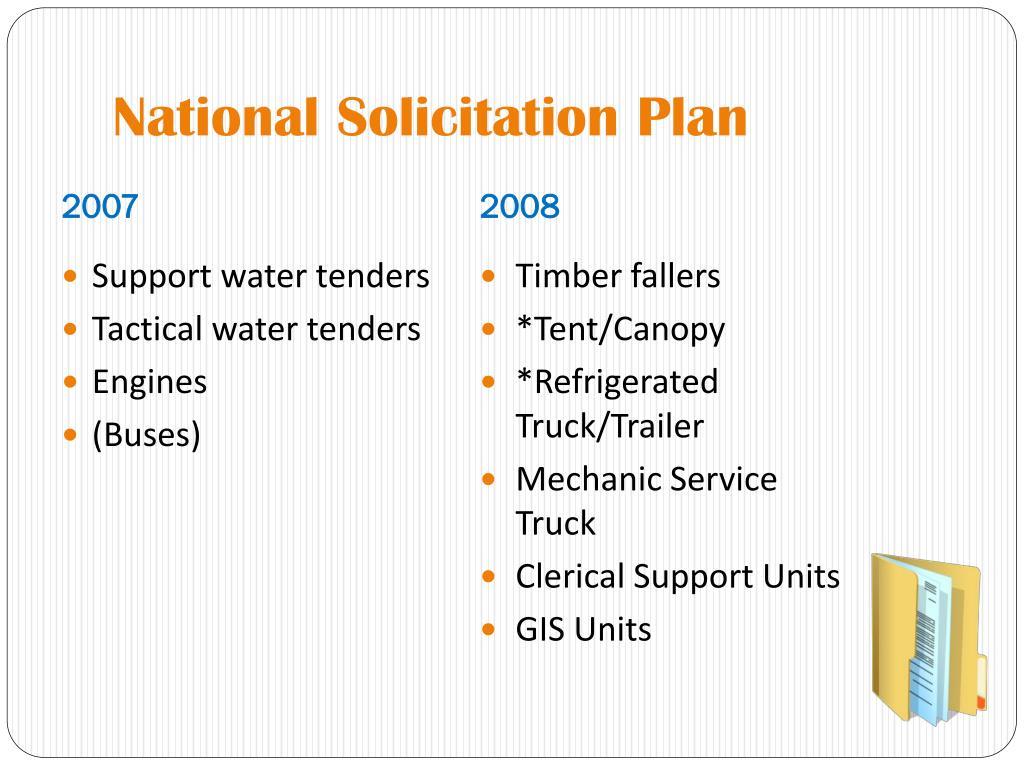 National Solicitation Plan