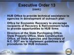 executive order 13 cont