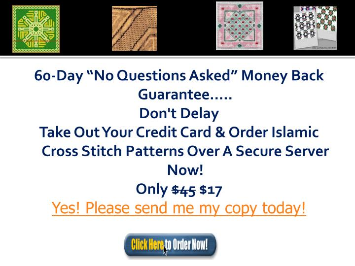 "60-Day ""No Questions Asked"" Money Back Guarantee....."
