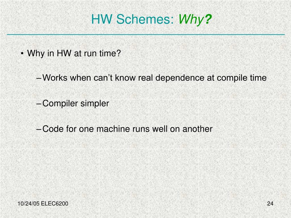 HW Schemes: