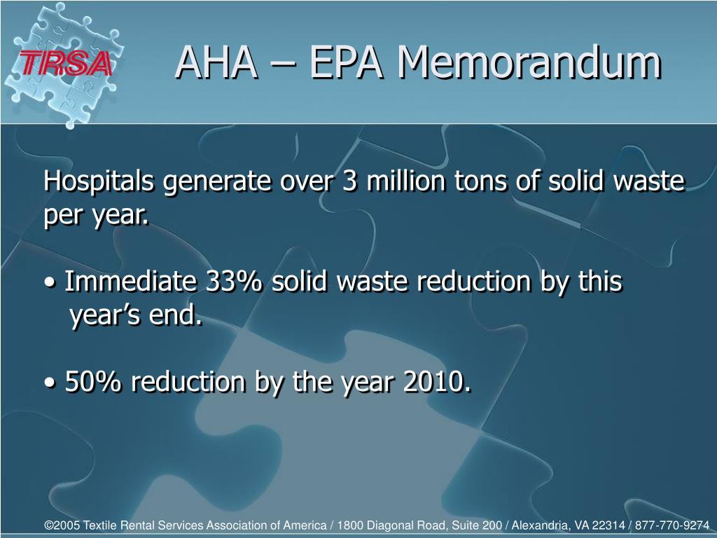 AHA – EPA Memorandum