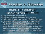 there is no argument reusables win