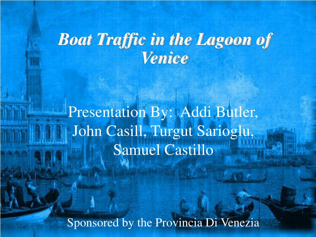 Boat Traffic in the Lagoon of Venice