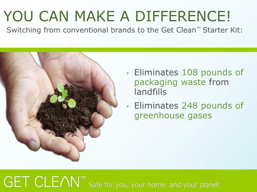Switching from conventional brands to the Get Clean
