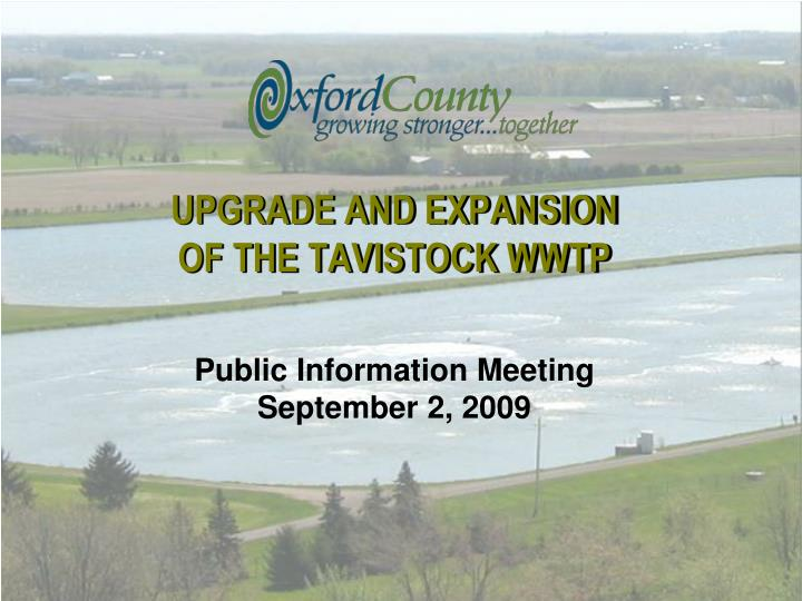 upgrade and expansion of the tavistock wwtp n.