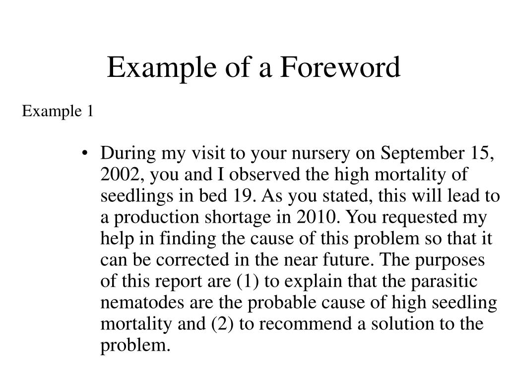 Example of a Foreword