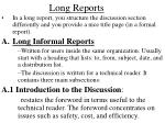 long reports