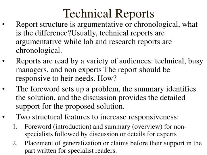 Technical reports