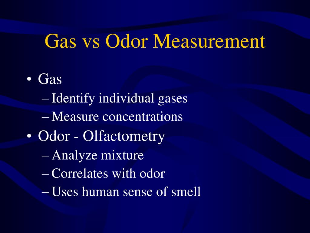 Gas vs Odor Measurement