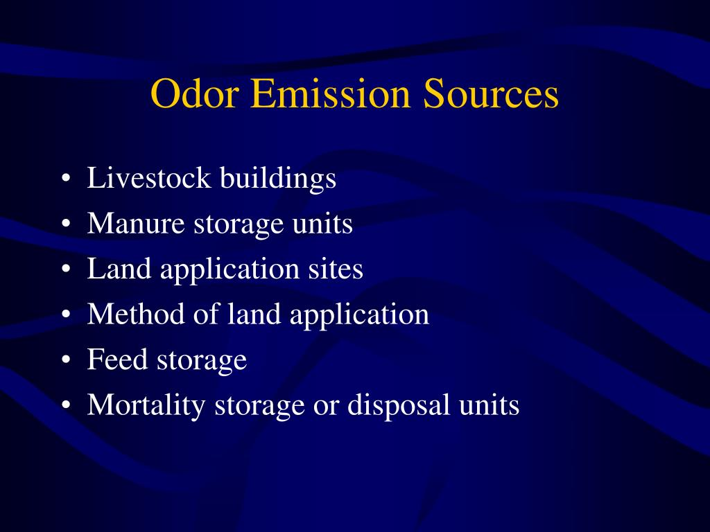 Odor Emission Sources