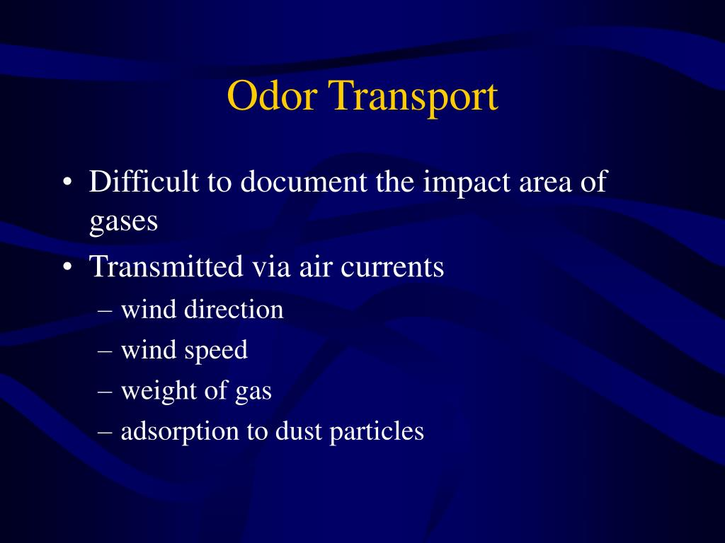Odor Transport