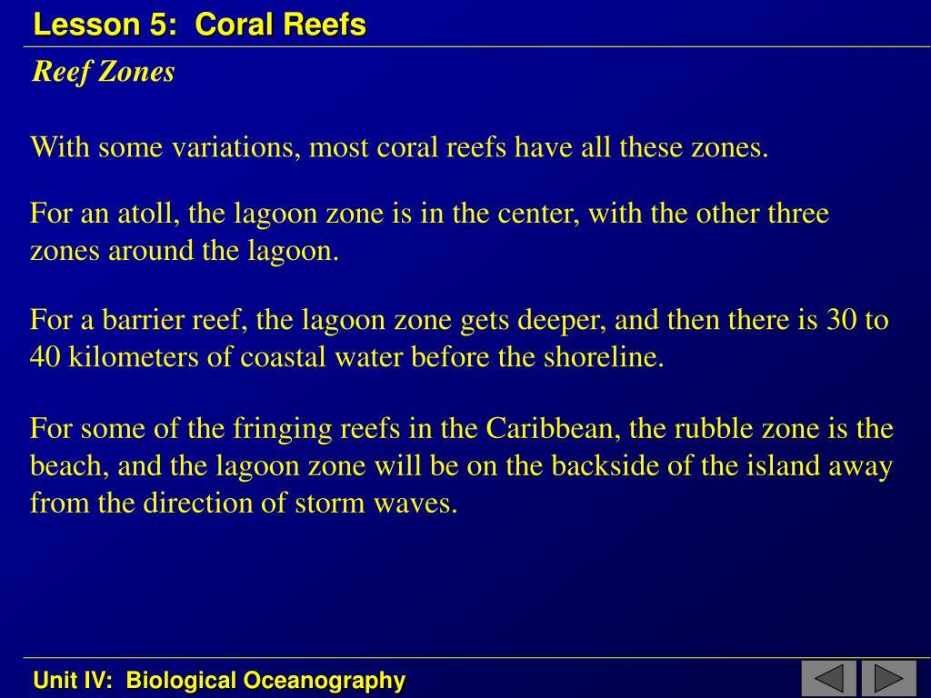 Reef Zones