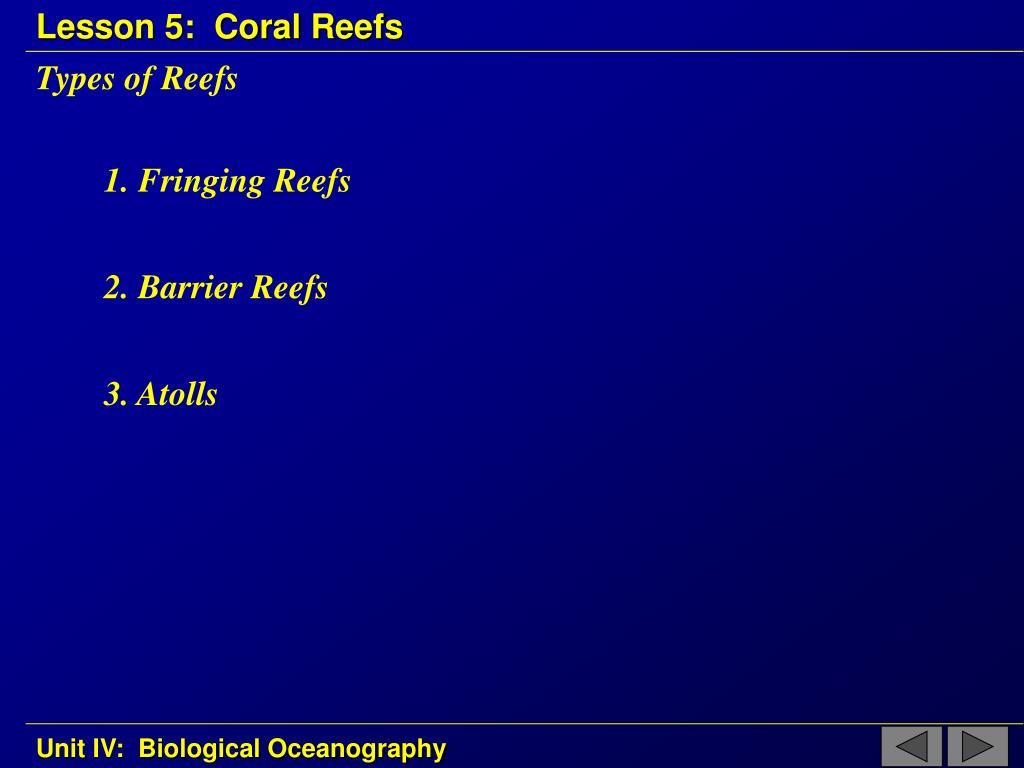 Types of Reefs