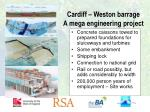 cardiff weston barrage a mega engineering project