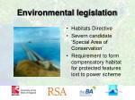 environmental legislation