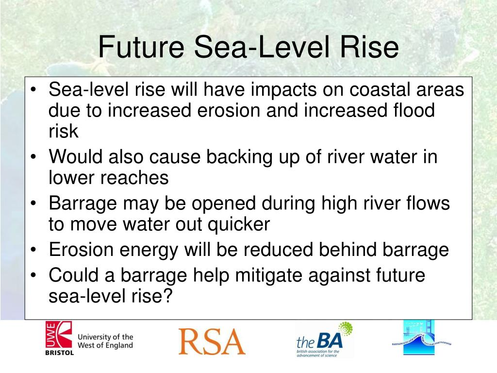 Sea-level rise will have impacts on coastal areas due to increased erosion and increased flood risk