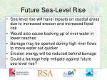 future sea level rise
