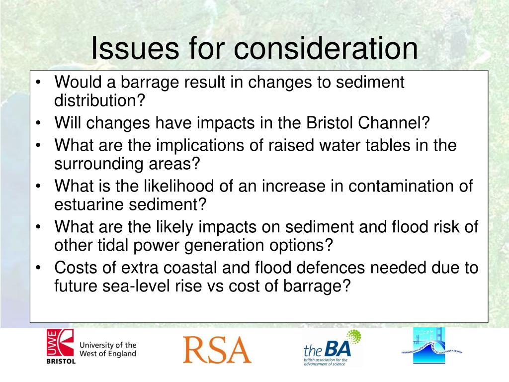 Would a barrage result in changes to sediment distribution?