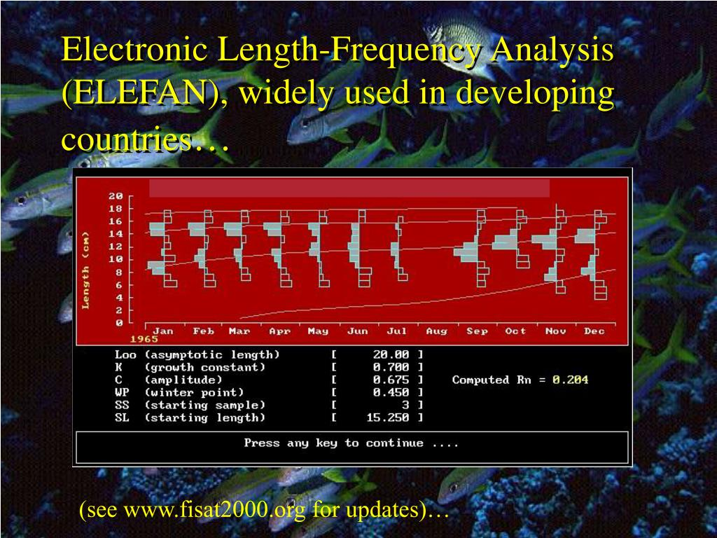 Electronic Length-Frequency Analysis (ELEFAN), widely used in developing countries
