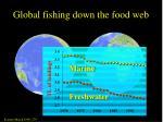 global fishing down the food web