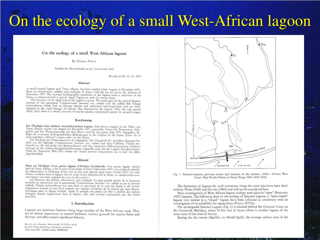 On the ecology of a small West-African lagoon