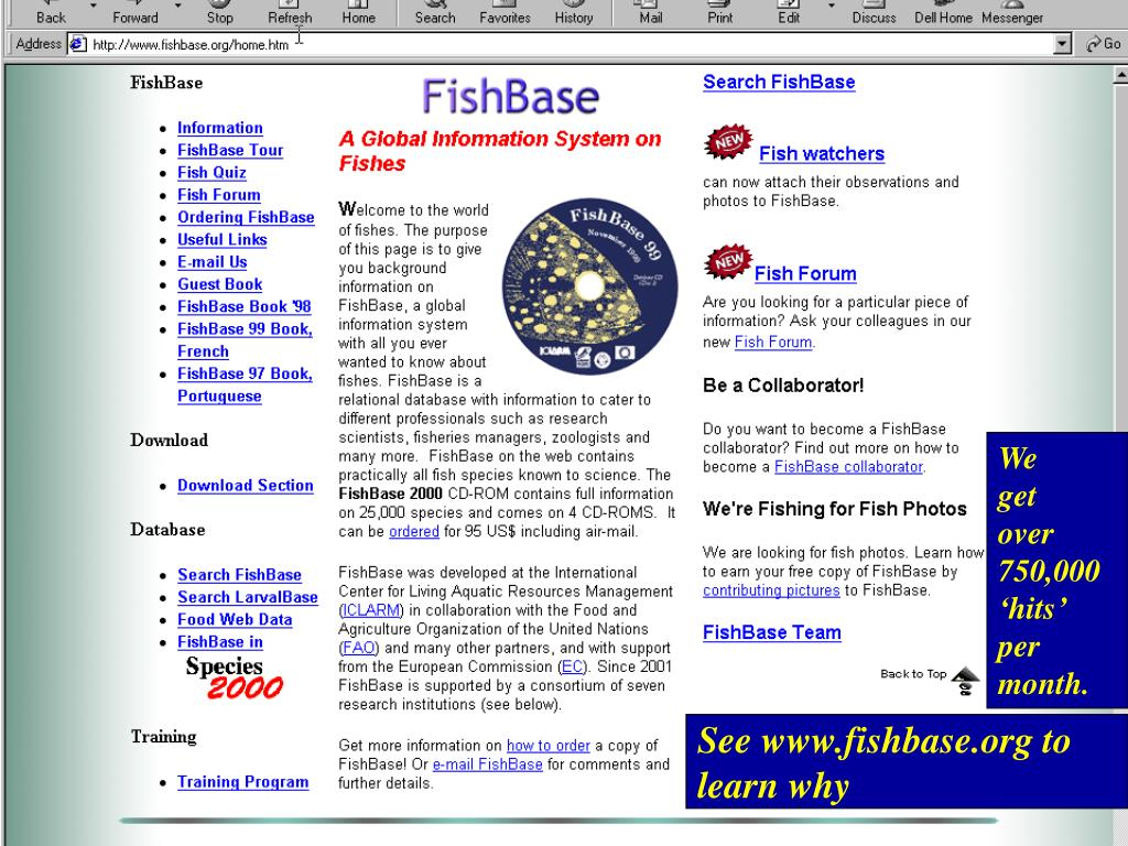 See www.fishbase.org to learn why