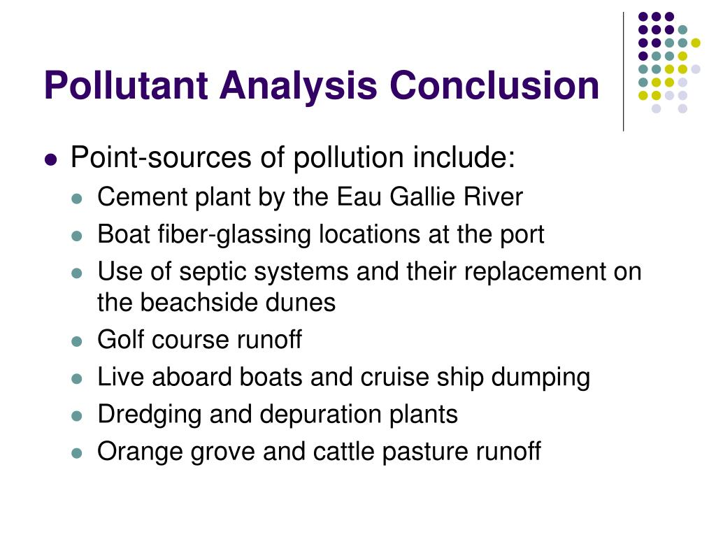 Pollutant Analysis Conclusion