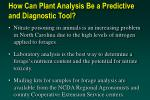 how can plant analysis be a predictive and diagnostic tool45