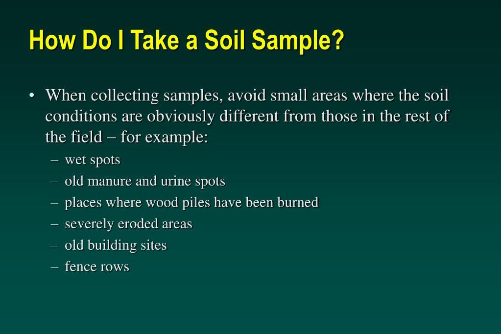 How Do I Take a Soil Sample?